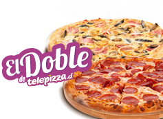 El Doble de Telepizza: 2 Familiares (hasta 3 ing)