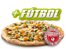 Pizza mediana (5 igr.) y tu código fútbol por 15,90€