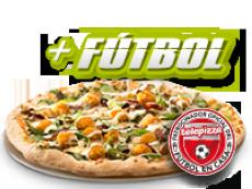 Pizza familiar (5 igr.) y tu código fútbol por