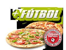 2 Telepizzas medianas (5 igr.) y código fútbol por 23,95€