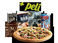 Menú Entretenimiento: Tu pizza mediana(hasta 5 ing.), una Tarrina Magnum y una película por 16,95€