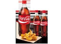 ¡Saborea! Dos refrescos (50cl.), más un refresco (1L.), más un complemento por