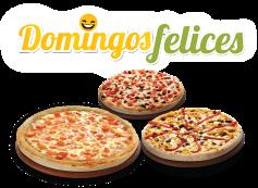 3 Pizzas medianas 3 ing c/u