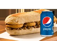 Sandwich Carne + Lata Bebida