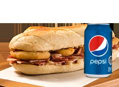 Sandwich Tocino + Lata Bebida