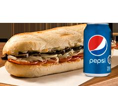 Sandwich Pepperoni + Lata Bebida