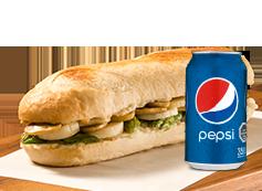 Sandwich Vegetariano + Lata Bebida