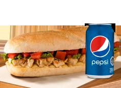 Sandwich Pollo + Lata Bebida.