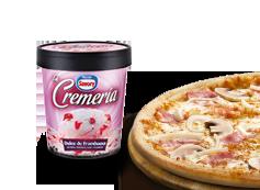 1 Pizza Mediana Hasta 3 ingredientes + Helado La Cremeria.