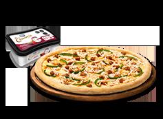 1 Pizza Mediana Clásica o Favorita o hasta 3 ing. + helado La Cremeria.
