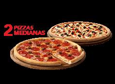 2 Telepizzas Medianas Favoritas o hasta 3 ing.