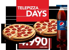 2 Pizzas Familiares con 1 ing a elección + 1 Bebida 1.5L Compra OnLine y Recoge en Local.