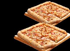 2 Pizzas Medianas Clásicas, Favoritas o hasta 3 ing