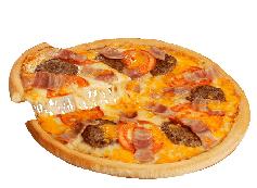 Pizza Bacon Cheese Burger