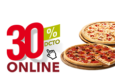 Online 30% desc. mediana al gusto.
