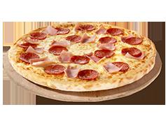 PIZZA MEDIANA DE 2 INGREDIENTES