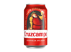 Lata Cerveza Cruzcampo