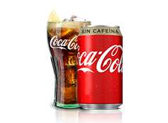 Lata Coca-Cola Sin Cafeína