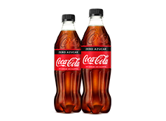 Dos Coca-Cola Zero 50cl