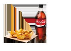 Coca Cola Zero 1L y Patatas