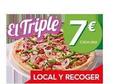 Disfruta a recoger de tus 3 pizzas medianas por 7€ cada una