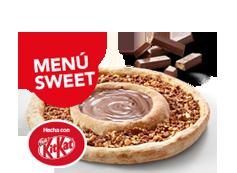 Menú Sweet: tu mediana (5 ingr.) y la Telepizza Sweet por 14,95€