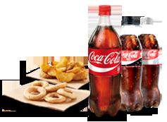 ¡Saborea! Dos refrescos (50cl.), más un refresco (1L.), más un complemento por 3,95€