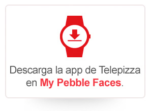 Descarga la app de Telepizza en My Pebble Faces