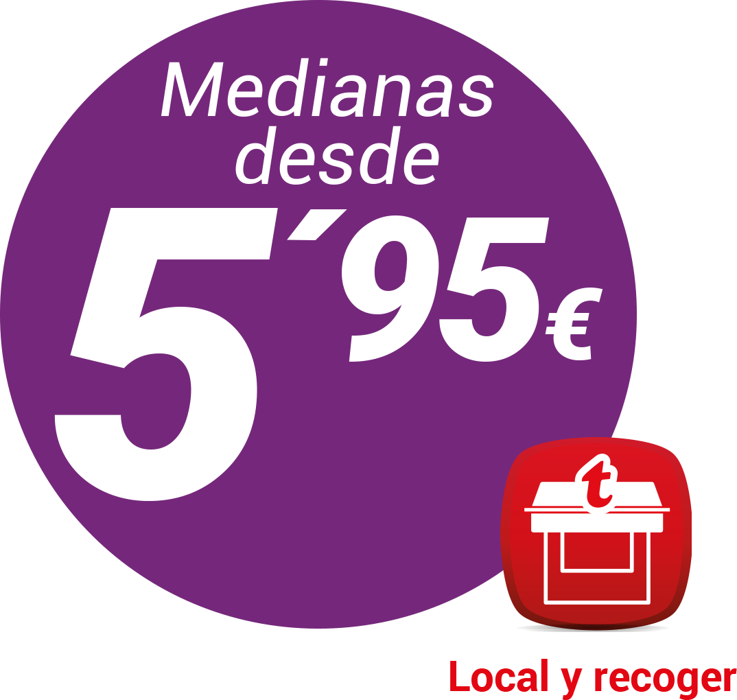 Medianas a 5,95€ local y recoger