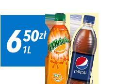Pepsi 1L za 6,50 zł do zamówienia z pizzą