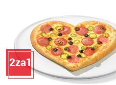 2za1 na pizze serce