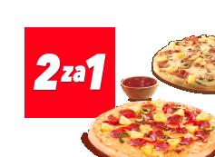 2 za 1 na wszystkie pizze + sos