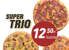 12,50 zł pizza mała do 4 skł, x 3