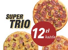 12zł pizza mała do 4 skł. x 3