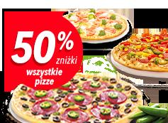 50% Zniżki na Wszystkie Pizze