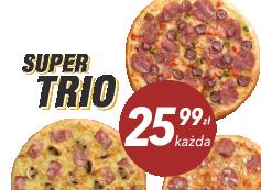 25,99 zł pizza duża do 4 skł. x 3