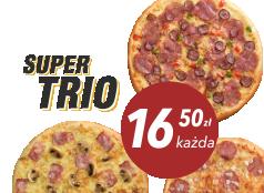 16,50 zł pizza średnia do 4 skł. x 3