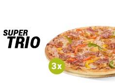 17,99 zł pizza średnia do 4 skł,  x 3
