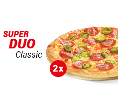 2 x pizza średnia Klasyczna - 24,49 zł / szt. + sos Gratis!