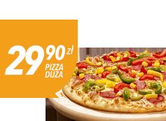Duża pizza do 4 skł. za 29,90 zł