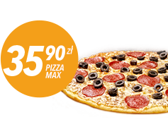 Pizza Max do 4 skł za 35,90 zł
