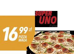 Mała pizza do 4 skł. za 16,99 zł