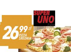 Średnia pizza do 4 skł. za 26,99 zł