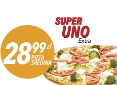 Średnia pizza do 4 skł. za 28,99 zł