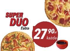 27,90 zł duża pizza do 4 skł. x 2 + sos Gratis!