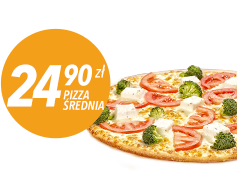 Srednia Pizza do 4 skl za 24,90 ZL
