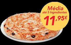 1 pizza média (até 5 ingr)