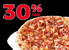 Exclusivo Online: Desconto de 30% em Pizzas individuais, médias e familiares!