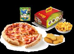Menu Infantil: Pizza Infantil ou Nuggets Frango c/ Batatas Dippers + Bebida + Brinde