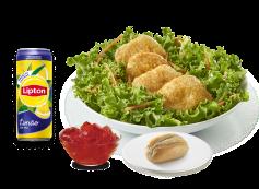 Salada + Bebida + Pão Alho Simples ou Gelatina
